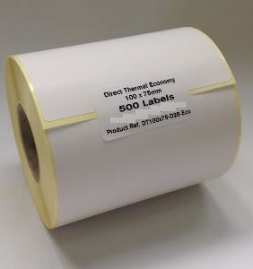Direct Thermal Blank Label Rolls 100x75mm (5 Rolls Per Box)