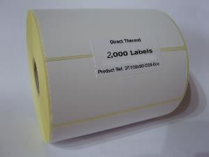 Direct Thermal Blank Label Rolls 100x200mm (4 Rolls Per Box)