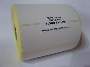 Direct Thermal Blank Label Rolls 100x50mm (5 Rolls Per Box)
