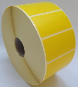 Direct Thermal Yellow Label Rolls 50x25mm (4 Rolls Per Box)