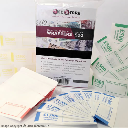 GBP Banknote Currency Wrappers / Straps / Bands