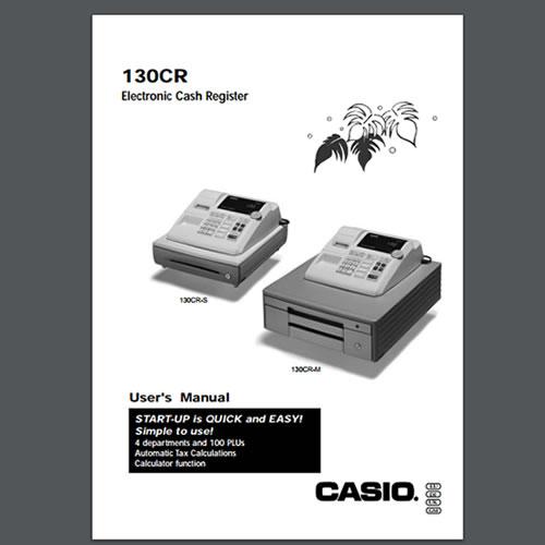 Casio 130cr User Manual Tecstore Uk