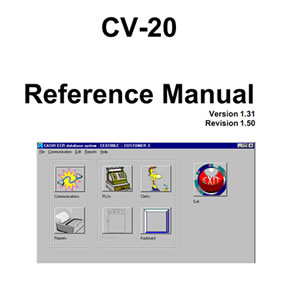 CV20 Software and Optional Serial Cable