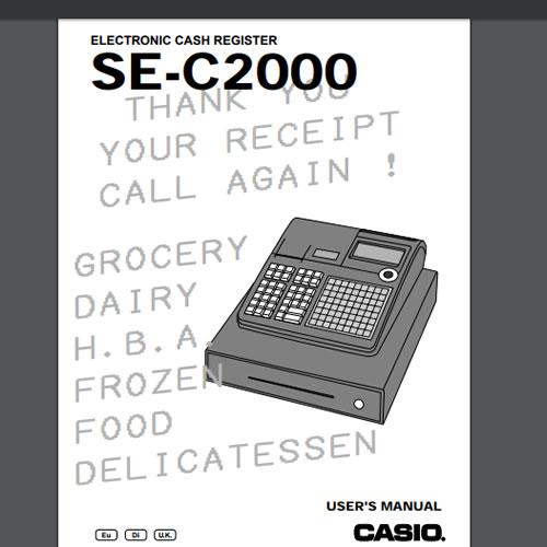 Casio 120cr 160cr electronic cash register sm service manual.