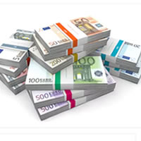 EURO Currency Wrappers / Straps / Bands