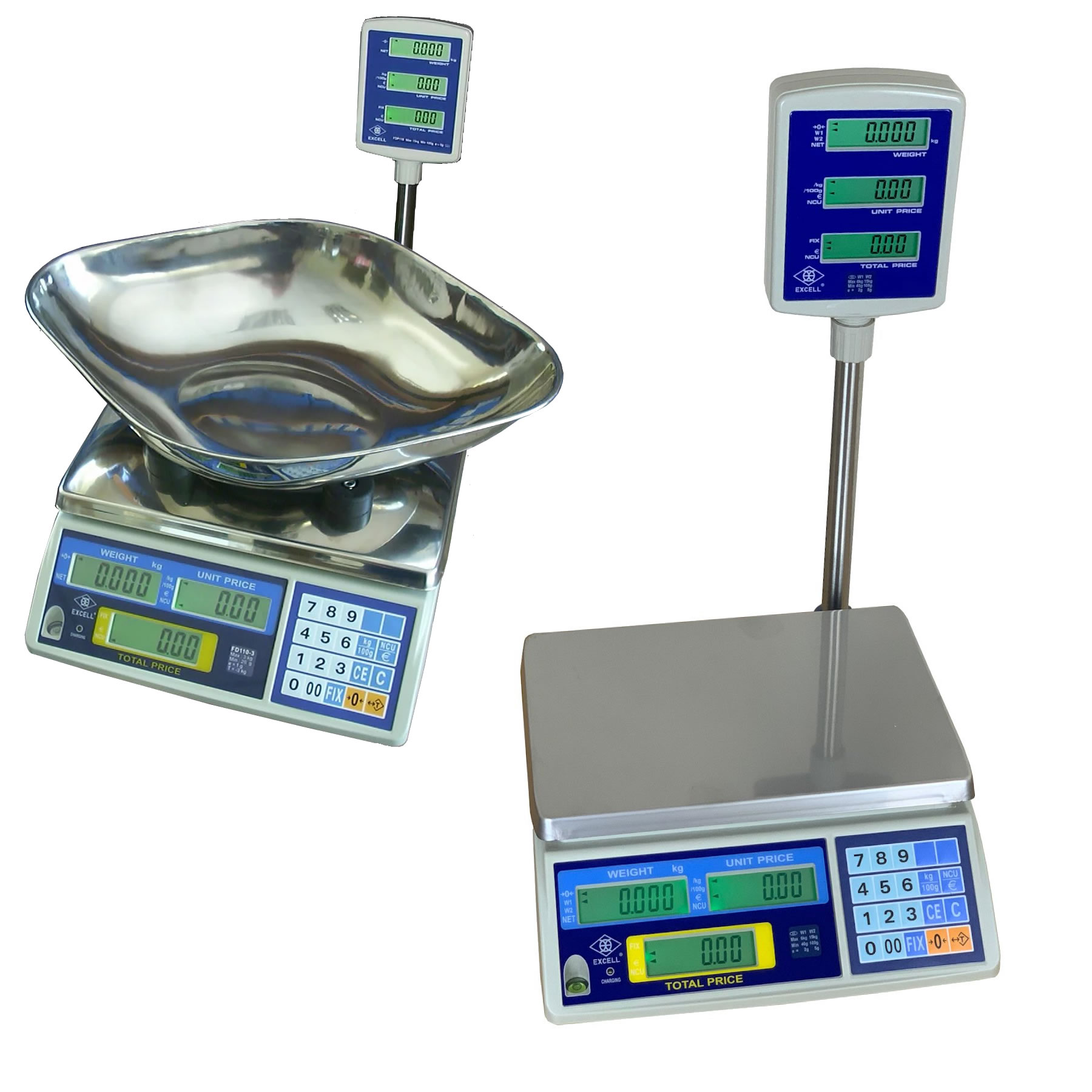 FD3 Retail Scale with Pole Display