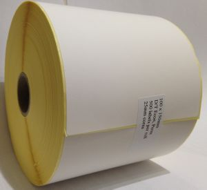Direct Thermal Blank Label Rolls 100x150mm (12 Rolls Per Box)