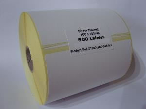 Direct Thermal Blank Label Rolls 100x100mm (10 Rolls Per Box)