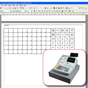 Sam4s er 390 keyboard template tecstore uk for Cash register keyboard template
