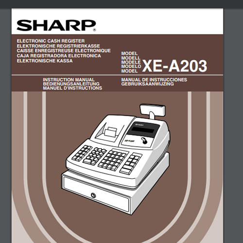 sharp xe a203 manual download