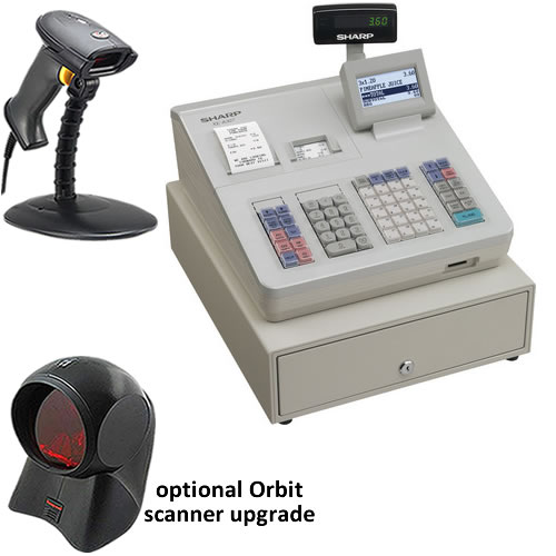 Sharp XE-A307 Cash Register with Barcode Scanner, TecStore UK