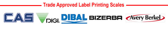 Label Printing Weighing Scales from CAS, Avery Berkel, Bizerba, Digi and Dibal